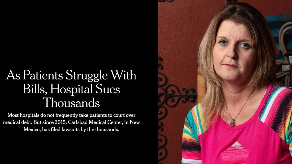 New York Times as Patients Struggles